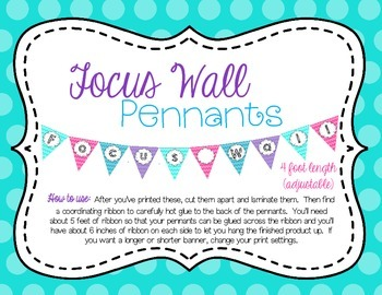 Focus Wall Pennants Decoration Banner