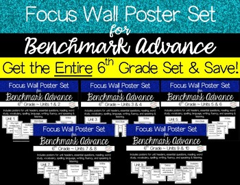 Focus Wall Poster Set Bundle for ALL Units of Benchmark Advance 6th Grade