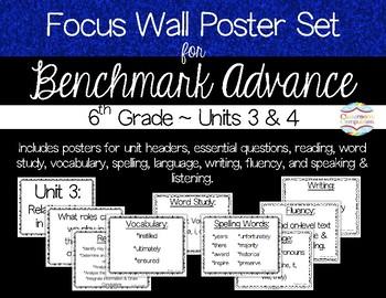 Focus Wall Poster Set Units 3&4 Benchmark Advance 6th Grade