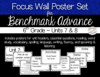 Focus Wall Poster Set Units 7 & 8 Benchmark Advance 6th Grade