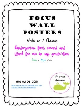 Focus Wall Posters K-2 and Blank