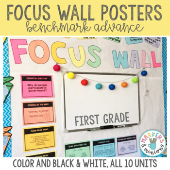 Benchmark Advance Focus Wall Posters + Word Cards (First Grade)