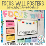 Focus Wall Posters for Kindergarten (Benchmark Advance)