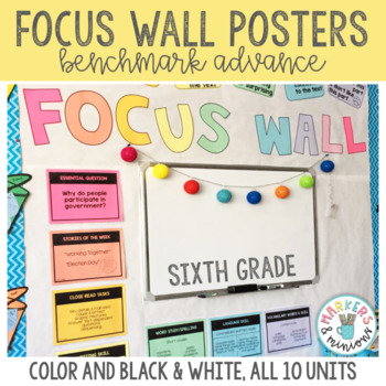Focus Wall Posters for Sixth (6th) Grade (Benchmark Advance)