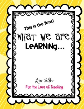 Focus Wall Printable Words...What we are Learning...