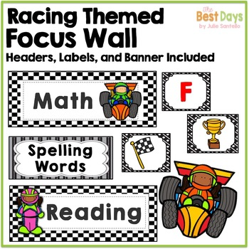Focus Wall Headers:  Racing Theme