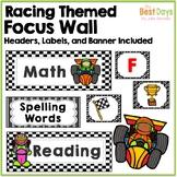 Focus Wall Headers:  Racing Theme (Bundle Available Inside)