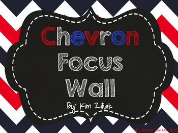 Focus Wall: Red, White, and Blue Chevron {Chalkboard}