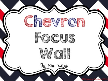 Focus Wall: Red, White, and Blue Chevron {White}