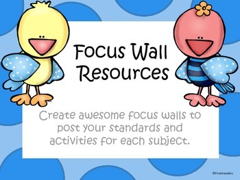Focus Wall Resource Packet