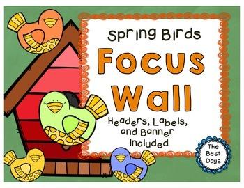 Focus Wall Headers: Spring Birds / Bird Houses