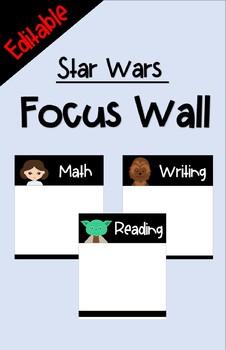 Focus Wall - Star Wars (Editable)