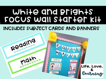 Focus Wall Starter Kit- White and Bright