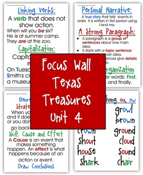 Focus Wall Texas Treasures Unit 4 Second Grade