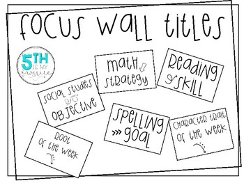 Focus Wall Titles