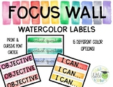 Focus Wall Watercolor Labels