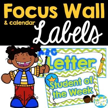 Focus Wall and Calendar Labels
