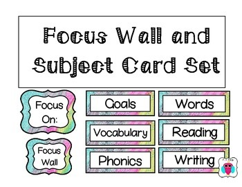 Focus Wall and Subject Card Set