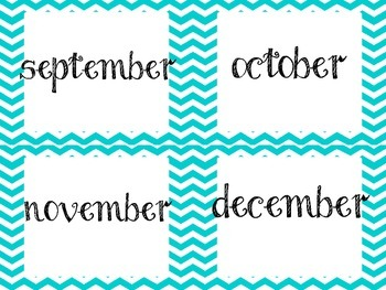 Focus Wall and month of the year signs