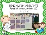 Focus Wall for Benchmark Adelante Fifth Grade