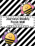Focus Wall for Kindergarten Journeys Editable Black and Wh