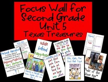 Focus Wall Texas Treasures Unit 5 Second Grade