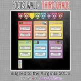Focus Wall for Virginia SOLs - Third Grade