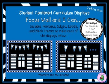 Focus Wall or I Can Display in Zebra-Blue