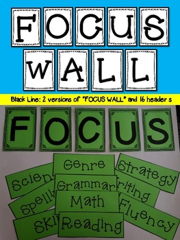 Focus Wall with 16 headers: Black/White version