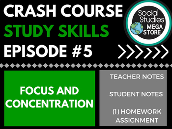 Focus and Concentration: Crash Course Study Skills  Ep 5