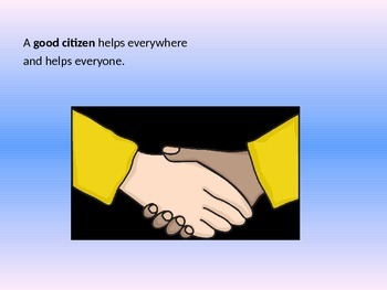 Focus in Lesson Plan: Being a Good Citizen PowerPoint Book