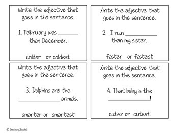 Focus on Adjectives