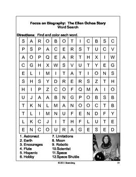 Focus on Biography: Original Activities & Standardized Test Practice