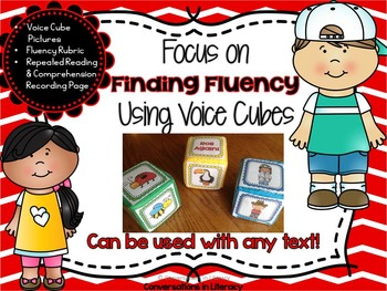 Fluency Activities Focus on Finding Fluency with Voice Cubes