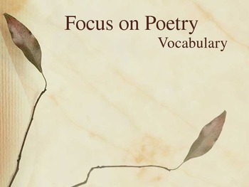 Focus on Poetry - Houghton Mifflin