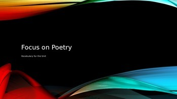 Focus on Poetry PowerPoint