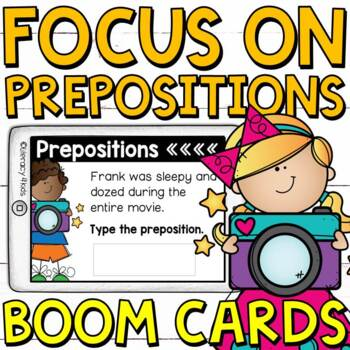 Focus on Prepositions Boom Cards (Digital Task Cards) for Third Graders