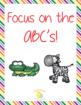 Focus on the ABCs Preschool Pack