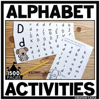 Focus on the Alphabet - Printables, Centers, Assessments
