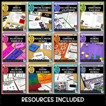 5th Grade CCSSM All Standards Bundle- Math Centers & Math Printables