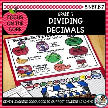 Dividing Decimals- Math Center Activity and Printables Pack
