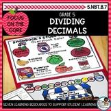 Dividing Decimals Word Problems | Math Center Activities and Math Printables