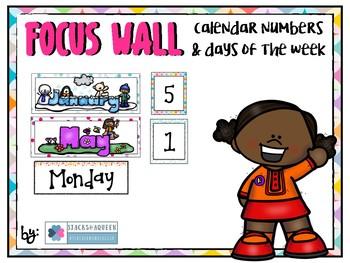 Focus wall calendar set