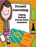 Focused Annotating Sheets: Helping Students Gain Confidenc