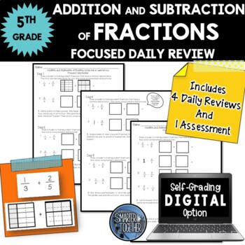 Fractions - Addition and Subtraction - Focused Daily Revie