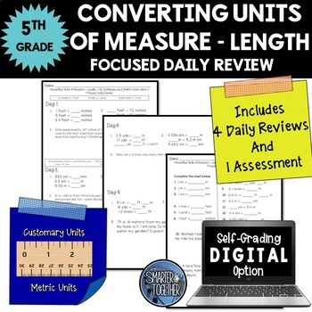 Converting Units of Measure - Length - Focused Daily Review - 5th Grade - CCSS