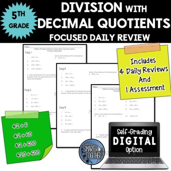 Division with Decimal Quotients - Focused Daily Review - 5th/6th Grade