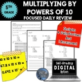 Multiply by Powers of 10 - Focused Daily Review