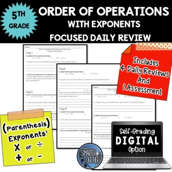 Order of Operations - With Exponents - Focused Daily Revie