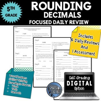 Rounding Decimals - Focused Daily Review - Common Core - 5th Grade